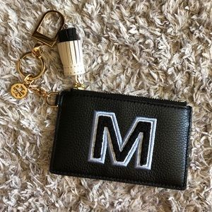 Tory Burch Wallet Keychain Letter M